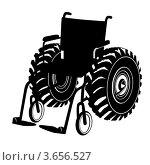 Инвалидная коляска. Стоковая иллюстрация, иллюстратор Сергей Скрыль / Фотобанк Лори