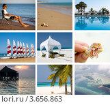 Купить «Коллаж: отдых на тропическом острове», фото № 3656863, снято 20 ноября 2018 г. (c) SummeRain / Фотобанк Лори