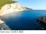 Купить «Красивый летний белый Порто Кацики пляж на Ионическом море (Лефкада, Греция)», фото № 3657483, снято 26 июня 2012 г. (c) Юрий Брыкайло / Фотобанк Лори