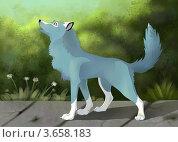 Купить «Стилизованная собака», иллюстрация № 3658183 (c) Анна Николаева / Фотобанк Лори