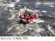 Купить «Спуск по реке Вуокса», фото № 3666703, снято 8 июля 2012 г. (c) Захарова Татьяна / Фотобанк Лори