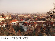 Вид на Прагу с высоты птичьего полета (2011 год). Стоковое фото, фотограф Иван Михайлов / Фотобанк Лори