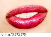 Купить «Женские губы крупным планом», фото № 3672375, снято 12 июля 2012 г. (c) Насыров Руслан / Фотобанк Лори