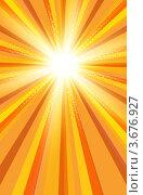 Фон с яркими солнечными лучами. Стоковая иллюстрация, иллюстратор Михаил Моросин / Фотобанк Лори