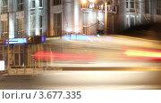 Движение в ночном городе, таймлапс. Стоковое видео, видеограф Максим Шатохин / Фотобанк Лори