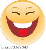 Купить «Смешной смайл, улыбка, иконка», иллюстрация № 3679943 (c) Наталия Попова / Фотобанк Лори