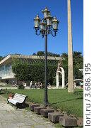 Купить «Фонари Пицунды», эксклюзивное фото № 3686195, снято 11 июля 2012 г. (c) Игорь Веснинов / Фотобанк Лори