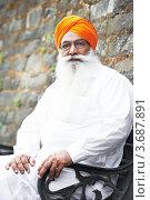 Купить «Портрет индийского сикха в тюрбане с густой бородой», фото № 3687891, снято 26 июня 2012 г. (c) Дмитрий Калиновский / Фотобанк Лори