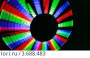 Купить «Иллюминация. Мелькающие цветные панели на темном фоне», видеоролик № 3688483, снято 6 мая 2010 г. (c) Losevsky Pavel / Фотобанк Лори