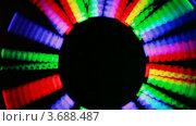 Купить «Иллюминация. Мелькающие цветные панели на темном фоне», видеоролик № 3688487, снято 6 мая 2010 г. (c) Losevsky Pavel / Фотобанк Лори