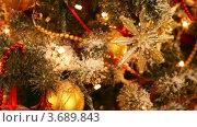 Купить «Гирлянды и шары на украшенной к Новому году ели», видеоролик № 3689843, снято 26 марта 2010 г. (c) Losevsky Pavel / Фотобанк Лори