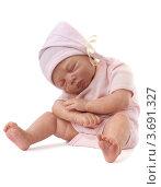 Купить «Реалистичная кукла ребенок, сидит и спит», фото № 3691327, снято 2 июня 2020 г. (c) Marina Appel / Фотобанк Лори