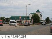 Купить «Почеп, Центральная улица», фото № 3694291, снято 22 июля 2012 г. (c) Александр Невский / Фотобанк Лори