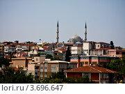 Купить «Стамбул. Вид на город и мечеть Фатих из окна отеля», фото № 3696647, снято 26 июня 2012 г. (c) Наталья Белотелова / Фотобанк Лори