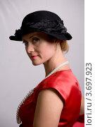 Купить «Портрет романтичной женщины в ретростиле», фото № 3697923, снято 18 сентября 2011 г. (c) Egorius / Фотобанк Лори
