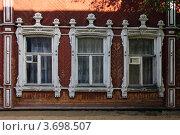 Купить «Резные окна в Вологде», фото № 3698507, снято 20 июня 2012 г. (c) Ирина Балина / Фотобанк Лори