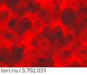 Купить «Красный фон с сердцами», иллюстрация № 3702031 (c) Giedrius Matuzevicius / Фотобанк Лори