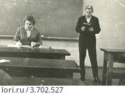 Купить «На уроке.1962 год.», фото № 3702527, снято 15 марта 2019 г. (c) АЛЕКСАНДР МИХЕИЧЕВ / Фотобанк Лори