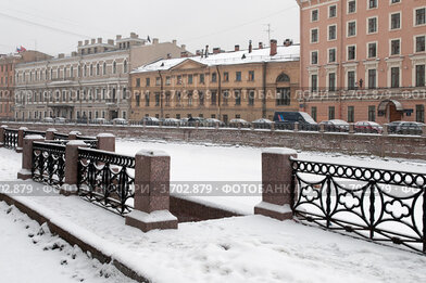 Купить «Река Мойка. Зима. Петербург», эксклюзивное фото № 3702879, снято 26 февраля 2012 г. (c) Александр Алексеев / Фотобанк Лори