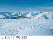 Купить «Горы Хибины зимой», фото № 3705923, снято 31 марта 2012 г. (c) Morgenstjerne / Фотобанк Лори