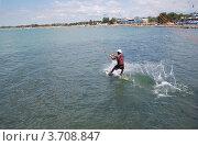 Купить «Вейкбордист», фото № 3708847, снято 18 июля 2012 г. (c) Ольга Станина / Фотобанк Лори