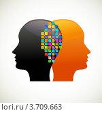Люди говорят, думают, общаются. Стоковая иллюстрация, иллюстратор Marina Zlochin / Фотобанк Лори
