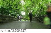 Купить «Люди на мосту в Санкт-Стивенс Грин Парк в Дублине, Ирландия(Таймлапс)», видеоролик № 3709727, снято 21 сентября 2010 г. (c) Losevsky Pavel / Фотобанк Лори