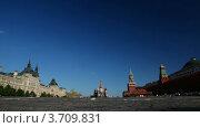 Туристы на Красной площади в Москве, таймлапс (2010 год). Стоковое видео, видеограф Losevsky Pavel / Фотобанк Лори