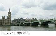 Купить «Биг Бен, мост и река Темза в Лондоне, таймлапс», видеоролик № 3709855, снято 21 сентября 2010 г. (c) Losevsky Pavel / Фотобанк Лори