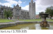 Купить «Фонтан у собора святого Патрика, Дублин», видеоролик № 3709935, снято 9 ноября 2010 г. (c) Losevsky Pavel / Фотобанк Лори