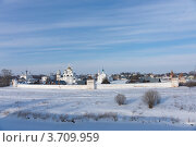 Купить «Суздаль в марте. Красивые облака над Покровским монастырем», эксклюзивное фото № 3709959, снято 11 марта 2012 г. (c) Павел Широков / Фотобанк Лори