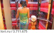 Купить «Женщина и девочка поднимаются на лифте», видеоролик № 3711675, снято 1 августа 2010 г. (c) Losevsky Pavel / Фотобанк Лори