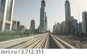 Купить «Вид на город из окна монорельсового поезда», видеоролик № 3712311, снято 2 декабря 2010 г. (c) Losevsky Pavel / Фотобанк Лори