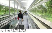 Купить «Пассажиры с багажом», видеоролик № 3712727, снято 5 декабря 2010 г. (c) Losevsky Pavel / Фотобанк Лори