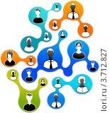 Социальные сети. Векторная иллюстрация. Стоковая иллюстрация, иллюстратор Marina Zlochin / Фотобанк Лори
