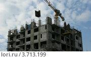 Купить «Строительство дома, Москва, таймлапс», видеоролик № 3713199, снято 23 сентября 2010 г. (c) Losevsky Pavel / Фотобанк Лори