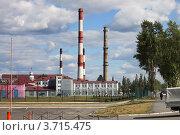 Трубы и здания Новотрубного завода, город Первоуральск (2012 год). Стоковое фото, фотограф Оксана Мурзина / Фотобанк Лори