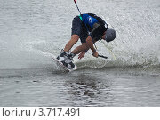 Купить «Катание на водной доске», фото № 3717491, снято 29 июля 2012 г. (c) Александр Лядов / Фотобанк Лори
