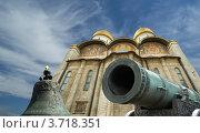 Купить «Царь-пушка и Царь-колокол в Московском Кремле», фото № 3718351, снято 20 августа 2010 г. (c) Владимир Журавлев / Фотобанк Лори