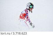 Лыжница Картин Зеттель на чемпионате FIS Alpine Ski World Cup 2011/2012. Редакционное фото, фотограф Анна Мартынова / Фотобанк Лори