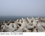 Купить «Набережная Балтийска в тумане», фото № 3721595, снято 4 июля 2012 г. (c) Светлана Овчинникова / Фотобанк Лори