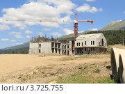Купить «Строительство Горного курорта «Архыз». КЧР», эксклюзивное фото № 3725755, снято 21 июля 2012 г. (c) Rekacy / Фотобанк Лори