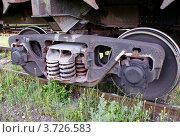 Купить «Колёсная пара товарного вагона», фото № 3726583, снято 16 июня 2012 г. (c) Павел Кричевцов / Фотобанк Лори