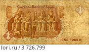 Купить «Деньги Египта, 1 фунт 1990 г. (обратная сторона). Храм Рамзеса в скале Абу-Симбел», фото № 3726799, снято 18 января 2020 г. (c) Иван Марчук / Фотобанк Лори