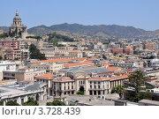 Вид на город Мессина с башни. Стоковое фото, фотограф Екатерина Слугина / Фотобанк Лори