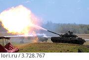 Выстрел танка. Стоковое фото, фотограф Вячеслав Цыкун / Фотобанк Лори