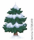 Рождественская елка. Стоковая иллюстрация, иллюстратор Калятина Наталья / Фотобанк Лори