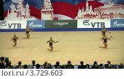 Купить «Гимнастки с обручами на XXX Чемпионате мира по художественной гимнастике», видеоролик № 3729603, снято 7 апреля 2011 г. (c) Losevsky Pavel / Фотобанк Лори