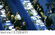 Купить «Жюри на XXX Чемпионате мира по художественной гимнастике», видеоролик № 3729611, снято 7 апреля 2011 г. (c) Losevsky Pavel / Фотобанк Лори