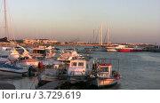 Пристань с лодками на Кипре (2011 год). Редакционное видео, видеограф Losevsky Pavel / Фотобанк Лори